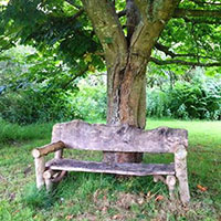 EarthHeart - lovers bench